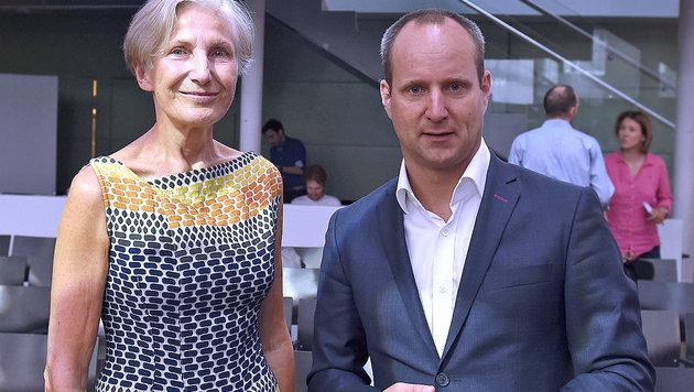 Irmgard Griss und NEOS-Vorsitzender Matthias Strolz (Bild: APA/Herbert P. Oczeret)