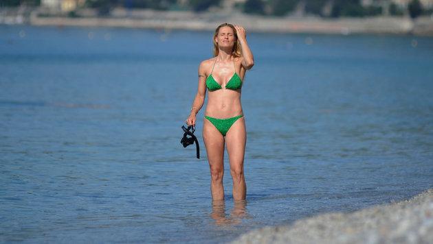 Michelle Hunziker im grünen Bikini (Bild: www.PPS.at)