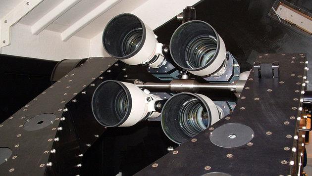 Das Teleskop SuperWASP-North auf La Palma (Bild: SuperWASP)
