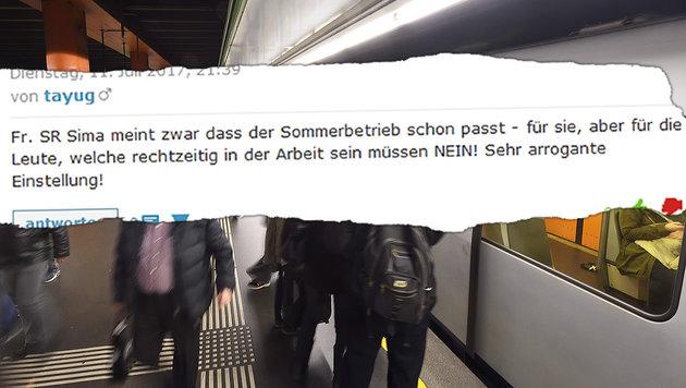 Wien: Ferienfahrplan verärgert Öffi-Nutzer (Bild: krone.at, Wiener Linien)