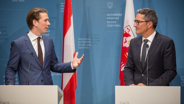 Außenminister Sebastian Kurz und Südtirols Landeshauptmann Arno Kompatscher (Bild: APA/ÖVP/JAKOB GLASER)