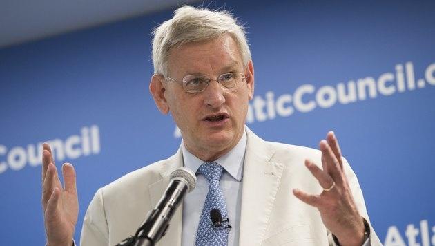 Der ehemalige schwedische Premier und Außenminister Carl Bildt (Bild: AFP)