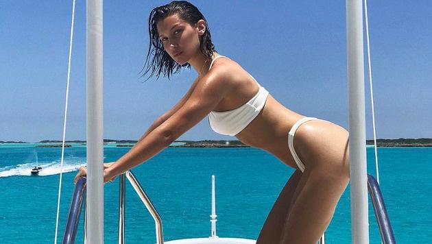Bella Hadid macht im Bikini einfach immer eine gute Figur. (Bild: www.PPS.at)