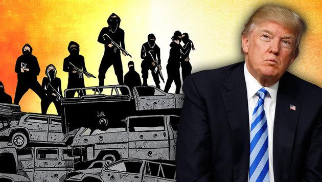 Bewaffneter Aufstand gegen Trump - als Comic (Bild: Black Mask Studios, AP, krone.at-Grafik)