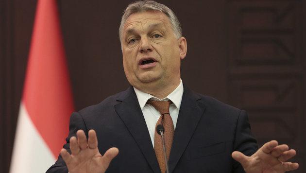"""Die Regierung von Ministerpräsident Orban """"verteidigt die Interessen Ungarns"""". (Bild: AP)"""