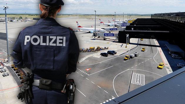 Schubhäftlinge legten Wiener Flughafen lahm (Bild: APA/HELMUT FOHRINGER, Klemens Groh, krone.at-Grafik)