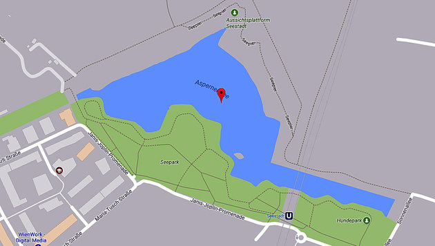 Wien: Student (19) im Asperner See ertrunken (Bild: Screenshot google.maps)