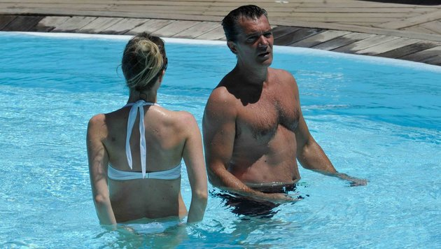 Antonio Banderas und Nicole Kimpel auf Ischia (Bild: www.PPS.at)