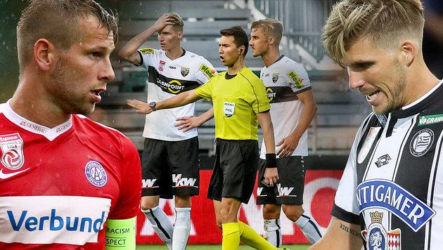 Los-Pech! Schwere Gegner für österreichische Teams (Bild: GEPA, krone.at-Grafik)