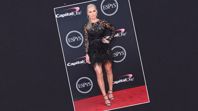 Lindsey Vonn im sexy Abendkleid beim ESPYS-Award - dort, wo Anna Gasser ausgezeichnet wurde (Bild: Jordan Strauss/Invision/AP)