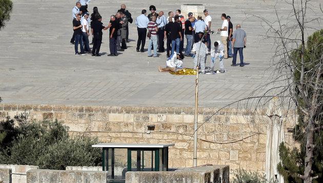 Jerusalem: Zwei Polizisten nach Attentat gestorben (Bild: AFP)