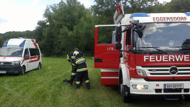 72-Jähriger tot in Fischteich bei Graz entdeckt (Bild: FF Eggersdorf)
