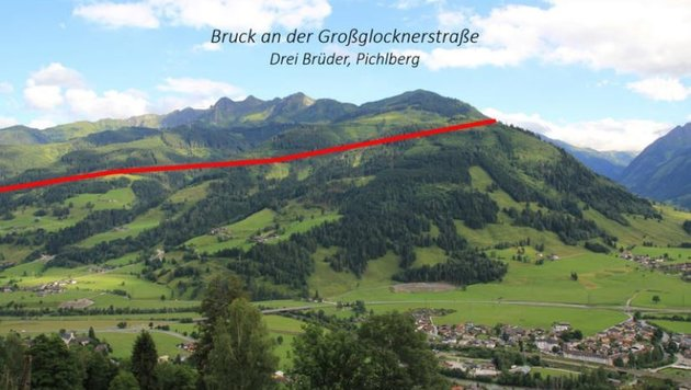 Landschaftsverwüstung durch die 380er-Freileitung, hier dargestellt an einer Fotomontage. (Bild: Weißenbacher)