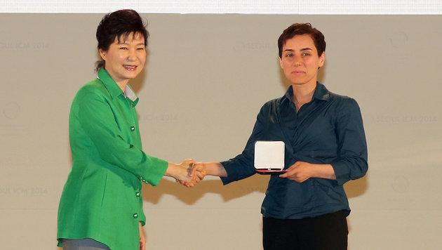2014 wurde Maryam Mirzakhani als erster Frau die Fields-Medaille verliehen. (Bild: AFP)