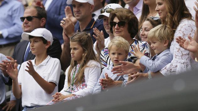 Federer-Kids finden Papas Mega-Coup ziemlich fad (Bild: AP)