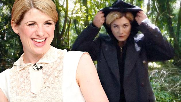 Erstmalig: Der neue Dr. Who ist eine Frau! (Bild: AFP/FREDERIC J. BROWN, twitter.com, krone.at-Grafik)