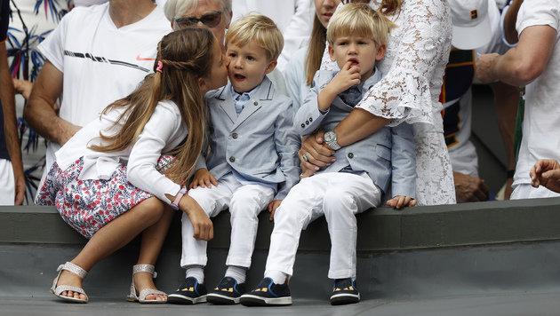 Federer-Kids finden Papas Mega-Coup ziemlich fad (Bild: AFP)