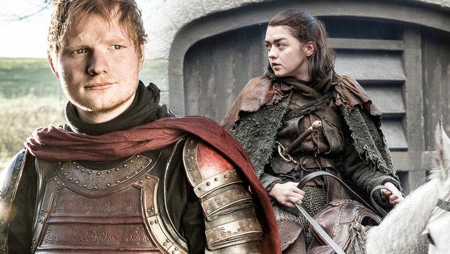"""""""Game of Thrones""""-Regisseur verteidigt Ed Sheeran (Bild: Sky, HBO, krone.at-Grafik)"""