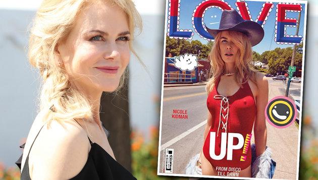 "Nicole Kidman sexy am Cover des ""Love""-Magazins (Bild: face to face, Love Magazine)"
