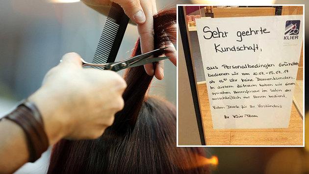 An diesem Aushang hat sich die Debatte entzündet. (Bild: thinkstockphotos.de, facebook.com)