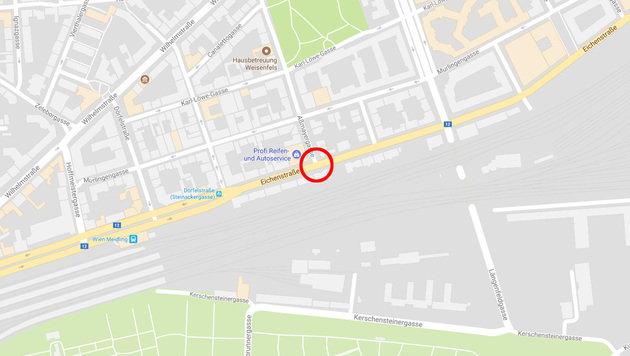 In der Kurve bei der Eichenstraße Ecke Aßmayergasse kam es zum Unfall. (Bild: maps.google.com)