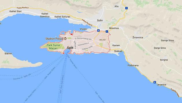 Kroatien: Feuer am Stadtrand von Split gestoppt (Bild: GoogleMaps)