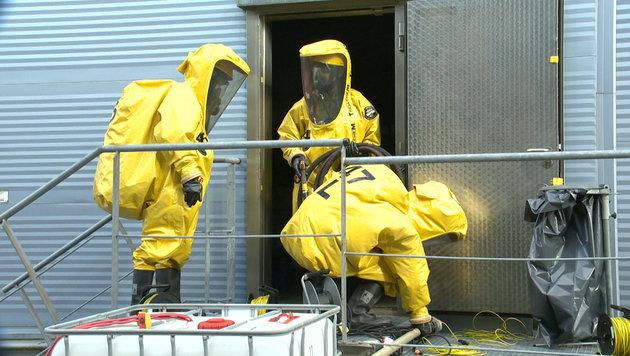 Bis zu 1000 Liter Säure bei Käserei ausgetreten (Bild: BFV Liezen/Schlüßlmayr)