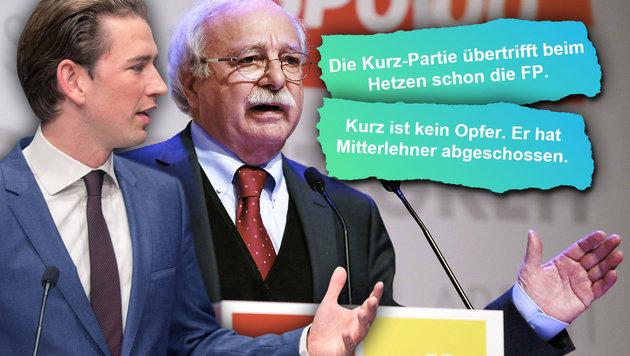SPÖ-Landespolitiker Ackerl fährt schweres Geschütz gegen ÖVP-Chef Kurz auf. (Bild: APA/RUBRA, APA/ÖVP/JAKOB GLASER, facebook.com, krone.at-Grafik)