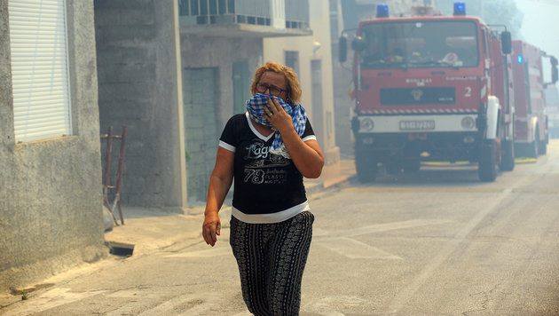 Kroatien: Feuer am Stadtrand von Split gestoppt (Bild: AFP)