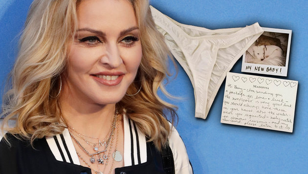 Klon-Angst? Madonna klagt gegen Schlüpfer-Auktion (Bild: AP, Enterpress News, krone.at-Grafik)