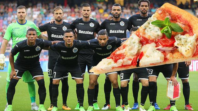"Kurios: ""Bullen""-Gegner bekam die Pizzen zu früh (Bild: GEPA, thinkstockphotos.de)"