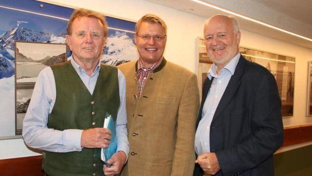 """Die """"Kuratoren"""" Hans Buchner, Erich Marx und Wilfried Holleis. (Bild: Sabine Salzmann)"""