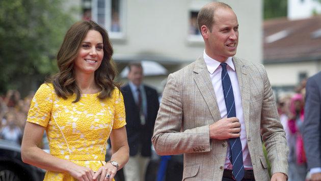 Prinz William und Herzogin Kate in Heidelberg (Bild: AP)