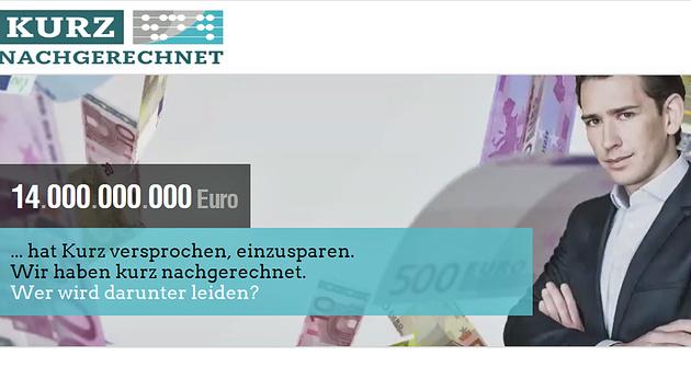 Die Anti-Kurz-Plattform kurz-nachgerechnet.at (Bild: kurz-nachgerechnet.at)