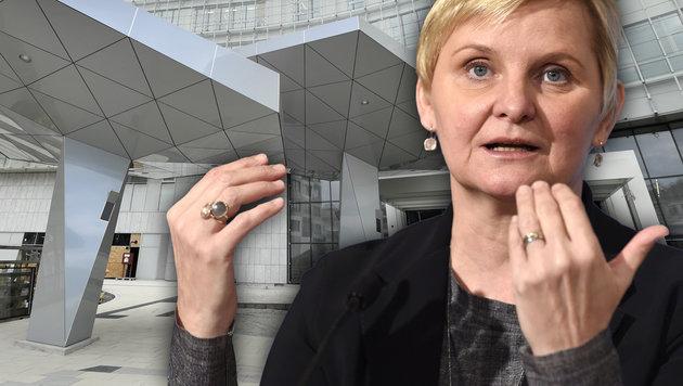Die SPÖ-Stadträtin Sandra Frauenberger schaffte es nicht zum Termin mit Hacker und Gottwald. (Bild: APA/HANS KLAUS TECHT, APA/HELMUT FOHRINGER, krone.at-Grafik)