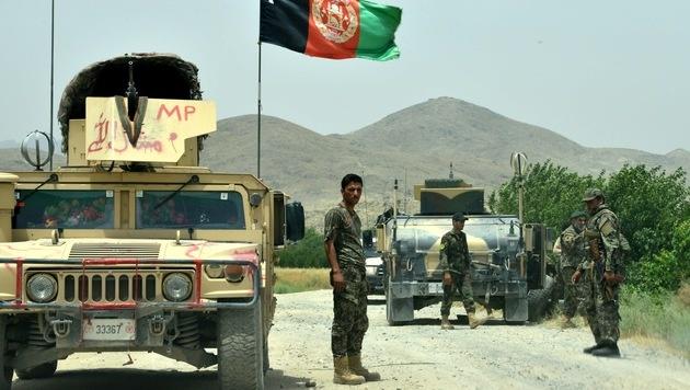 Soldaten der afghanischen Armee (Bild: AFP)