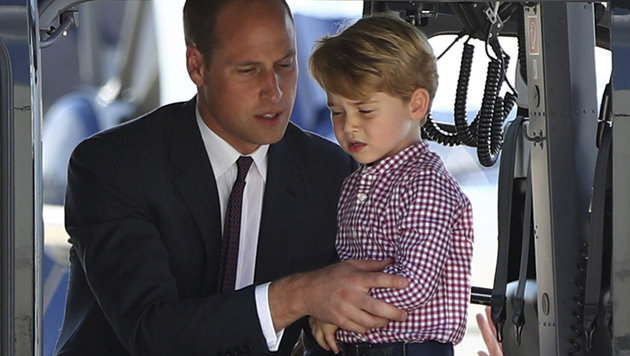 Happy Birthday: Prinz George feiert 4. Geburtstag (Bild: AP)