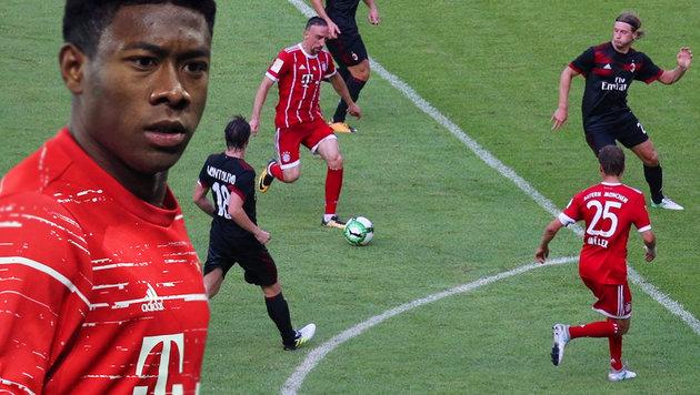 Bayern mit Alaba vom AC Mailand vorgeführt! (Bild: GEPA, twitter.com)