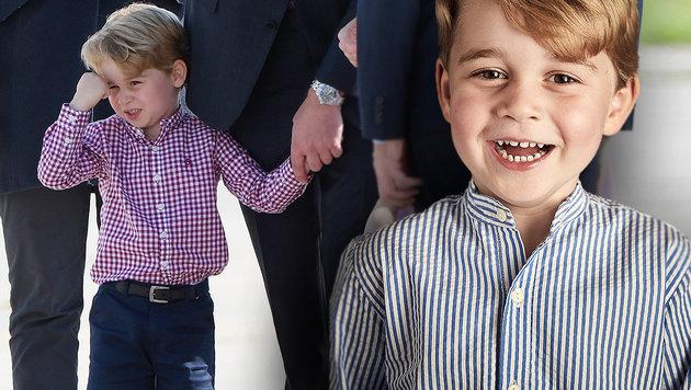 Happy Birthday kleiner Prinz: George feiert seinen vierten Geburtstag (Bild: AP, AFP)