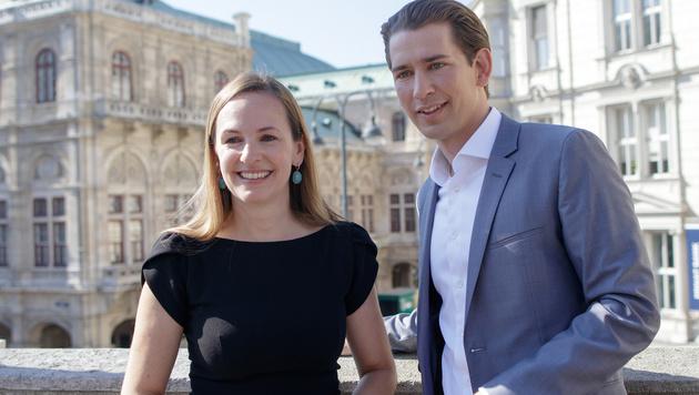 Maria Großbauer ist voll des Lobes für ÖVP-Chef Sebastian Kurz. (Bild: APA/GEORG HOCHMUTH)