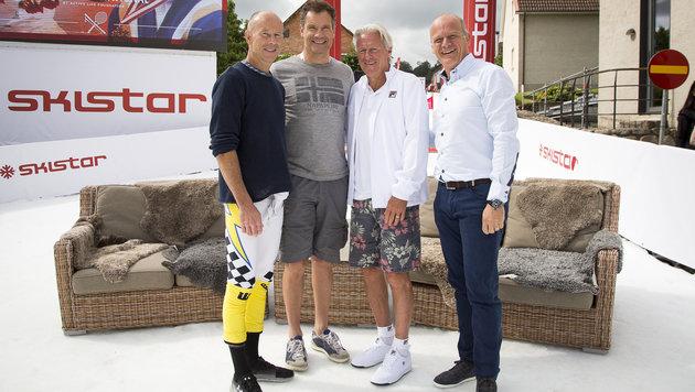 Verrückt! Tennisparty mit Ski-Legenden (Bild: Peter Moizi)