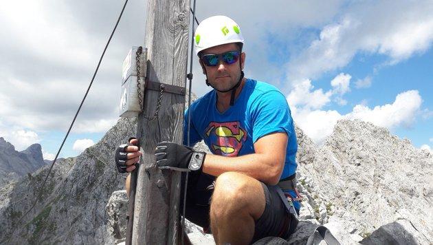 Christoph Zweimüller auf der Nordkette in Tirol, kurz vor dem Unwetter. (Bild: unbekannt)
