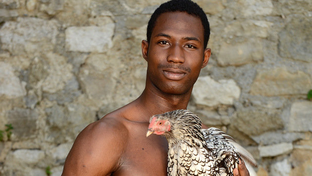 """""""Nackte Männer und Hühner für den guten Zweck (Bild: Verein rette (d)ein Huhn-Brigitte Gradwohl)"""""""