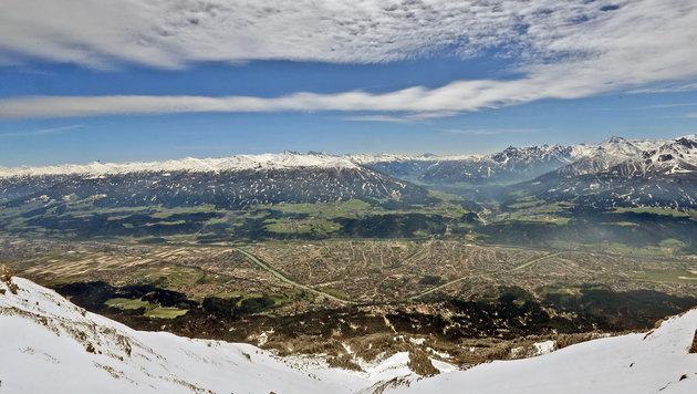 Innsbrucker Bergpanorama mit der Nordkette im Hintergrund (Bild: Christof Birbaumer)
