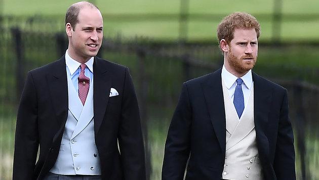Die Prinzen William und Harry 20 Jahre nach dem Tod ihrer Mutter Diana (Bild: AFP)