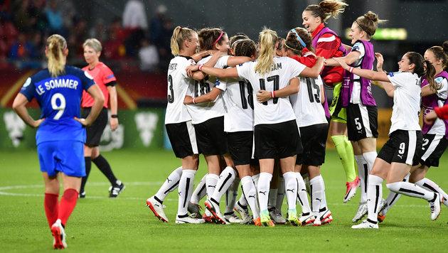 ÖFB-Ladies: EM-Sensation mit Fendrich gefeiert! (Bild: AFP)