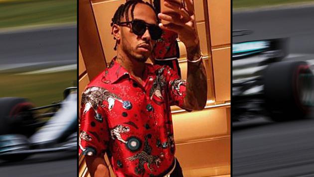 Lewis Hamilton zeigt sich seinen Social-Media-Followern mit neuer Frisur. (Bild: Instagram.com, GEPA)