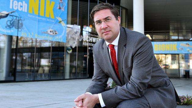 Den Welser Bürgermeister Andreas Rabl beschäftigt seit Monaten die Causa Da-Vinci-Akademie. (Bild: Markus Wenzel)