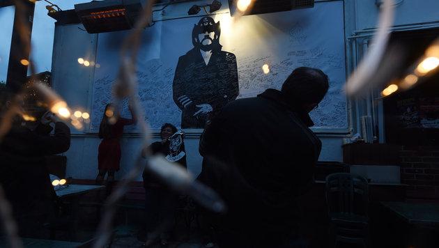 Fans huldigen Lemmy am Sunset Strip in Los Angeles. (Bild: AFP)