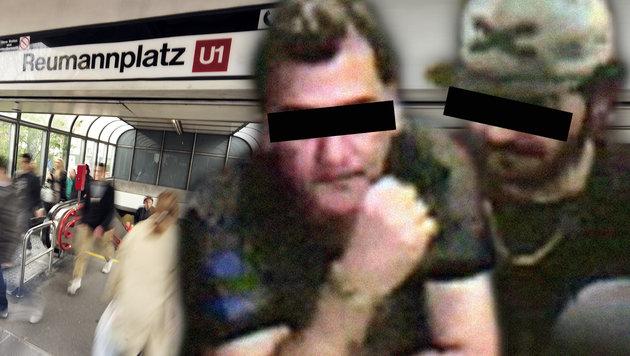 """Asylwerber zu Polizei: """"Nie über Bombe geredet"""" (Bild: Johannes Zinner, LPD Wien, krone.at-Grafik)"""